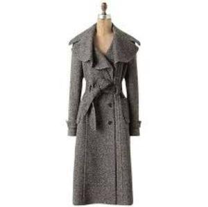 Cartonnier Anthro 6 tweed wool coat long